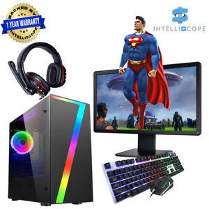 Fast Gaming PC Bundle Intel Quad Core i5 16GB RAM 1TB HDD WIN10 4GB GTX 1050Ti