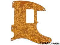 *NEW Gold Pearloid HUMBUCKER Telecaster PICKGUARD for USA Fender Tele 5 Hole