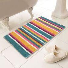 Tapis de bain multicolores coton