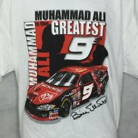 Vintage Muhammad Ali Bill Elliott T Shirt Sz XL Nascar Dodge Boxing Event Mens