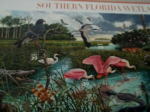 SOUTHERN FLORIDA WETLANDS, 8th in series of Nature of America, STAMPS