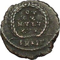 CONSTANTIUS II Constantine the Great son Roman Coin Wreath of success i34834