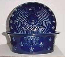 LONGABERGER POTTERY PROUDLY AMERICAN EAGLE DISH WITH LID - NEW -SHOP STORE TODAY