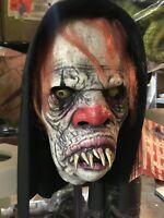 Chew Chew The Clown Hooded Halloween Mask Circus Freak Clown Haunted House Scary