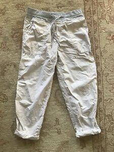 EUC JAMES PERSE Womens Grey Mixed Media Pants In Calcite Size 2 Cotton