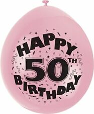 50th Birthday Party Happy Birthday Printed Balloons