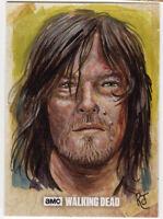 Topps The Walking Dead Season 6 Daryl Dixon Sketch Card Jimenez Original Art