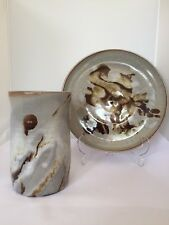 Great Pair Of Studio Pottery Pieces By Cyril Braunton