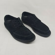 Fred Perry Shoes Adult 6.5 Black Suede Footwear Lace Up Outwear Casual Mens
