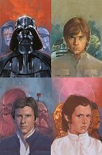 Star Wars Darth Vader 4 Kanan 1 & Leia 3 Exclusive Bam! Connecting Variant Set