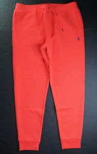 POLO RALPH LAUREN Men's Classic Fit Bright Red Double Knit Jogger Pant NEW NWT