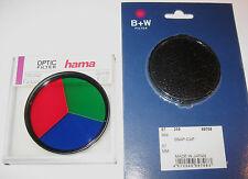 "67 mm set nuevo: gran efecto filtro - ""tricolor"" hama + objetivamente-tapa V. b&w 67mm"