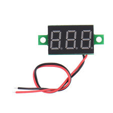 Mini DC 2 Wire 4.5-30V LED Display 3 Digital Voltage Voltmeter Panel Instruments