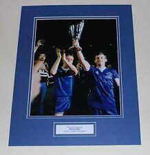 PETER REID Everton Genuine HAND SIGNED Autograph Photo Mount Display + COA