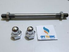 Lambretta Front Hub Fork Spindle Axle With Chrome Nut For LI GP DL SX TV