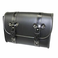 Universal Motorcycle PU Leather Front Fork Saddlebag Tool Bag For Harley Honda