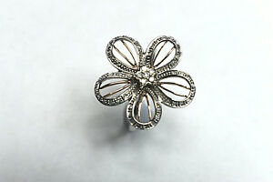 Diamond 14K Rose Gold & Sterling Silver Flower Cocktail Ring