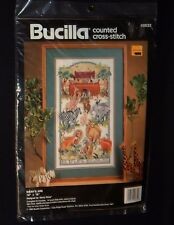 "Vintage Bucilla NOAH'S ARK Counted Cross Stitch Kit 40632 10x18"" 1992 sealed"