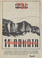 A120) WW2 GRECIA, FRANCHIGIA QUOTA DI MONASTERO, 11 ARMATA. VG IL 31/12/42.