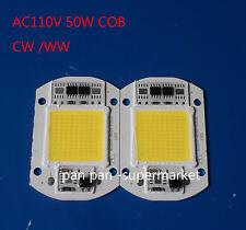 1pcs 50W 110V LED Floodlight white  COB Chip Smart IC Driver Lamp for DIY
