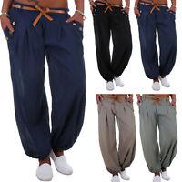 Womens Ali Baba Harem Trousers Pants Ladies Baggy Aladdin Boho Hippie Trousers