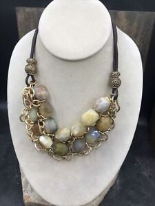 Barse Canyon Stone Necklace- Multi-Stone & Bronze- NWT