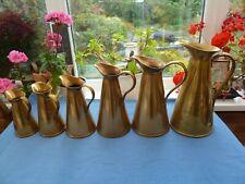 More details for 6 antique brass jugs by joseph sankey & sons