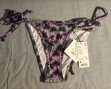 f8fd0bffcd129 Uniqlo X Tomas Maier Medium Purple Printed Side String Bikini Bottom Piece