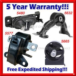 9MM141 4pc Motor Mounts fit 3.6L 2011-2019 Dodge Caravan RAM C//V TRADESMAN