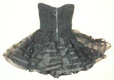 Betsey Johnson Tulle Zipper Bustier Sweetheart Dress, Black, 2