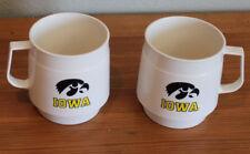 VINTAGE Iowa Hawkeyes Two Mugs the brand is SWEETHEART Very NICE!