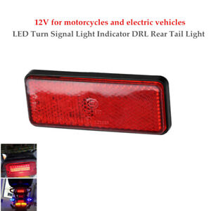 12V Red Rectangle Car Truck LED Reflector Tail Brake Stop Lights Universal 1PC