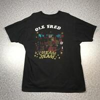 80s Vintage OLE FRED CREAM TEAM Mens T Shirt XXL 2XL   Single Stitch USA