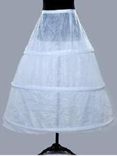 White 3 Hoops Bone Wedding Ball Gown Bridal Dress Crinoline Petticoat Underskirt