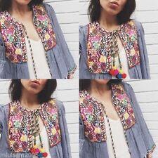 Zara Cotton Casual Crop Coats & Jackets for Women