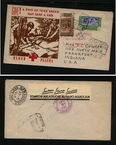 Spanish Morocco censor registered patraotic cover Comptoir Philatelique   SR1103