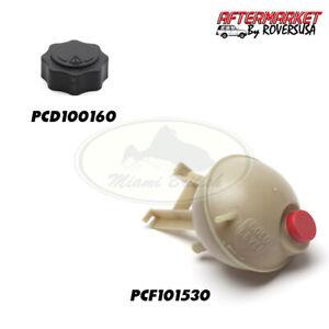 LAND ROVER RADIATOR EXPANSION RESERVOIR TANK + CAP DEFENDER PCF101530 PCD100160