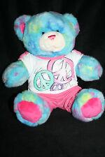 Build a Bear Peace Bear w/ Shirt and shorts Plush stuffed animal 15 inches
