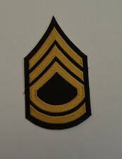 patch, écusson grade sergent, army, thermocollant et brodé13.5/7.5cm