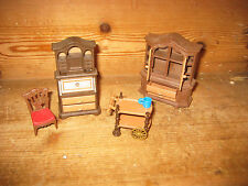 PLAYMOBIL VICTORIAN MANSION DOLLS HOUSE COLLECTION DINNING ROOM STUDY BUREAUX