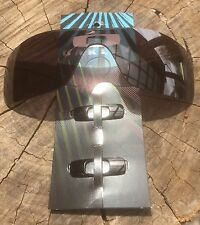 OAKLEY BATWOLF  POLISHED BLACK ICONS w / SUBLIME OPTICS BLACK POLARISED Lens