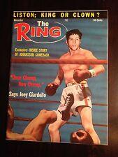 Vintage December 1963 THE RING Boxing Magazine JOEY GIARDELLO Near Mint