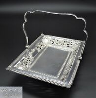 LEVESLEY BROTHERS CAKE FRUIT AFTERNOON TEA SWING HANDLE BASKET SILVER PLATED