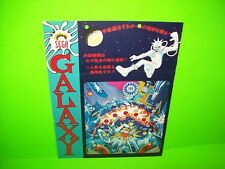 Sega GALAXY Original Arcade Flipper Game Pinball Machine Flyer 1973 Japan RARE