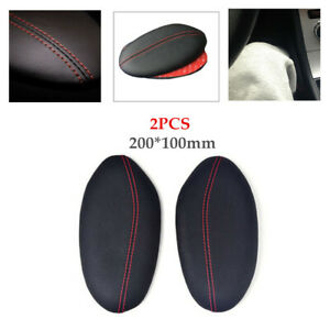 2PCS Leather Foam Auto Car Foot Support Cushion Pillow Leg Knee Thigh Pad Stand