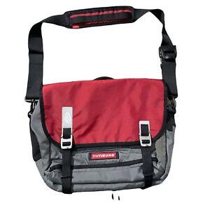 "TIMBUK2 San Francisco Command Laptop Messenger Bike Bag Gray/Red Fits 15"" Laptop"