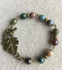 Antique Bronze Style Indian Agate  Bracelet
