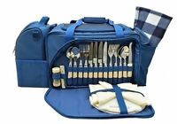 Royal Daytripper Picnic Set & Cooler Bag Inc Rug, Cutlery, Plates 4 Person