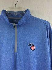 Vansport 1/4 Zip Blue Heather Pullover Adult Size 3X - Iowa Cubs Baseball