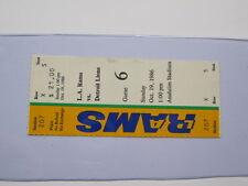 Oct 19, 1986  LA Rams vs Detroit Lions Game Ticket